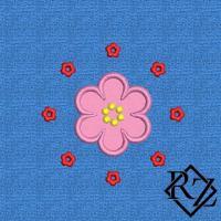 Скачать бесплатно дизайн машинной вышивки Круглый цветок