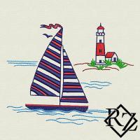 Скачать бесплатно дизайн машинной вышивки Яхта