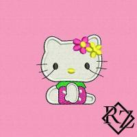 Скачать бесплатно дизайн машинной вышивки  Kitty